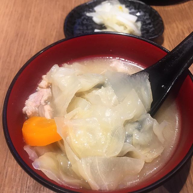 The tonjiro soup is a must order!