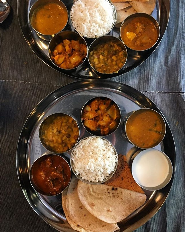 Thali for lunch today at Flour.