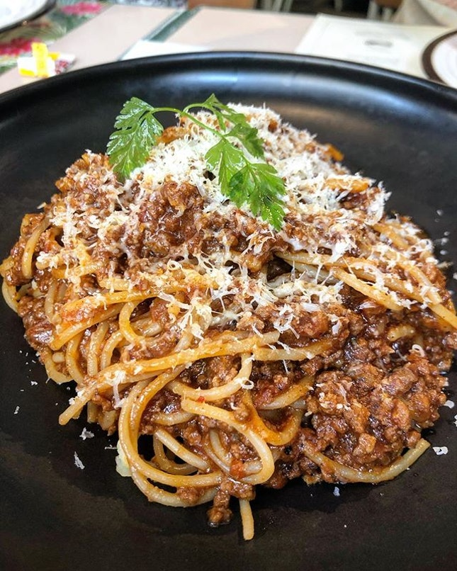 Wagyu Bolognese, pasta was al dente and they were very generous with the portions, meat and pasta.