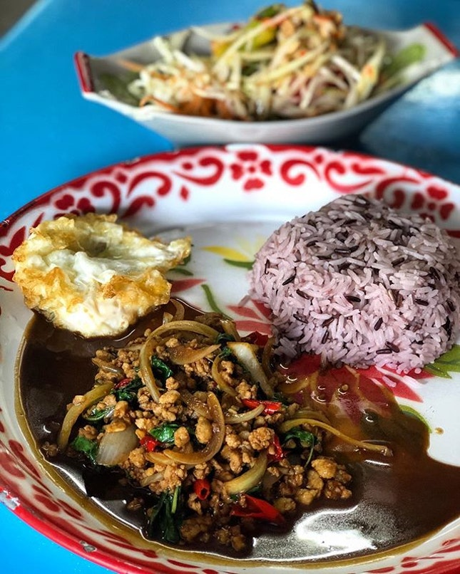 Pad Moo Kra Pao, easily one of my favourite Thai one dish meal.