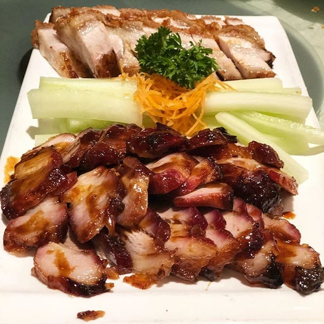 Pork platter - char siu and siew yoke to begin our feasting at Marco Polo.