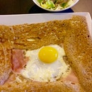 La Brehat egg, emmental cheese, ham  $19.90