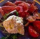Burrata with Parma Ham & Sicilian Tomatoes
