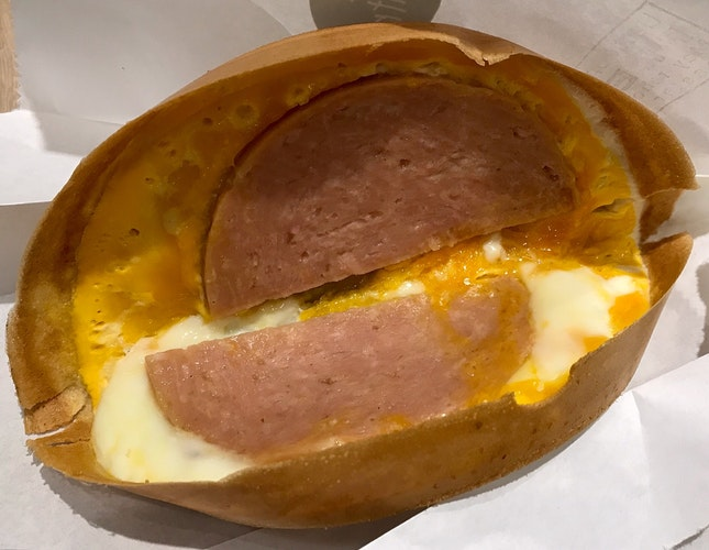 Luncheon Meat & Egg Pancake  $3.50