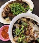 滷豬大腸和鴨腿+粿汁  $9.50