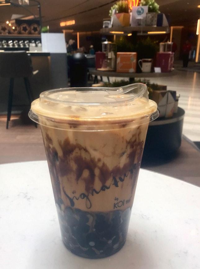 波霸黑糖奶茶  $6.90