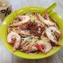 蝦麵湯  $5.90