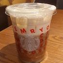 Iced White Mocha Americano (Breve)  $5.60