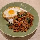 Krapow Pork Rice  $9
