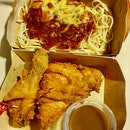 2pc Chickenjoy (Spicy) Spaghetti Meal  $10.40