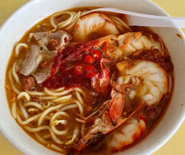 粉腸蝦麵湯  $8.50