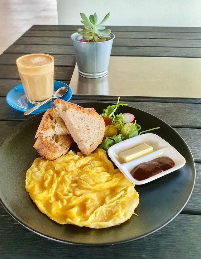Egg's n' Toast $10 | Latte $5