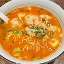 鮮蝦水餃赤湯拉麵  $14.50