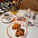C9062: Flame Tree Coffee $9 | Gourmet Sweet Croissants $8