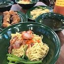 Large Wanton Mee ($5) And Ngoh Hiang ($6)