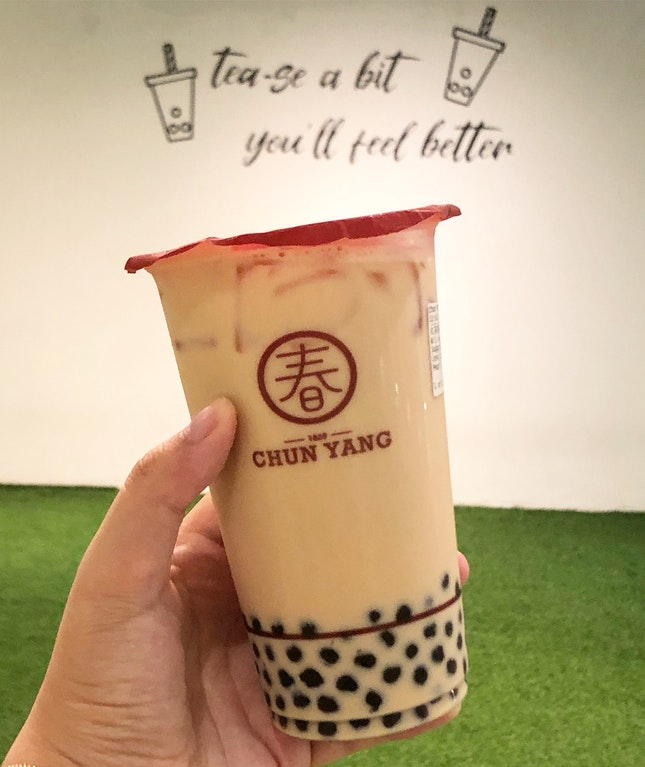 Red Milk Tea With pearls
