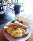 Brunch over lunch anytime 😏  Loving their Truffle Eggs Croissant!