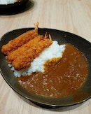Ebi Fry Curry Rice 🍤🍛 Oh my~ They served pretty good curry rice too!
