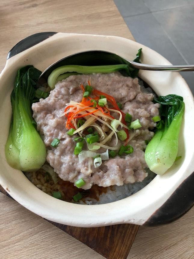 Claypot Minced Meat Rice