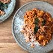 Orecchiette Pasta with Squid & Prawn Bolognese