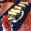 """Phoenix roll"",king prawn sushi roll topped with eel and avocado from ($18.8++) @sushiteisg 🍙🍣🍤."