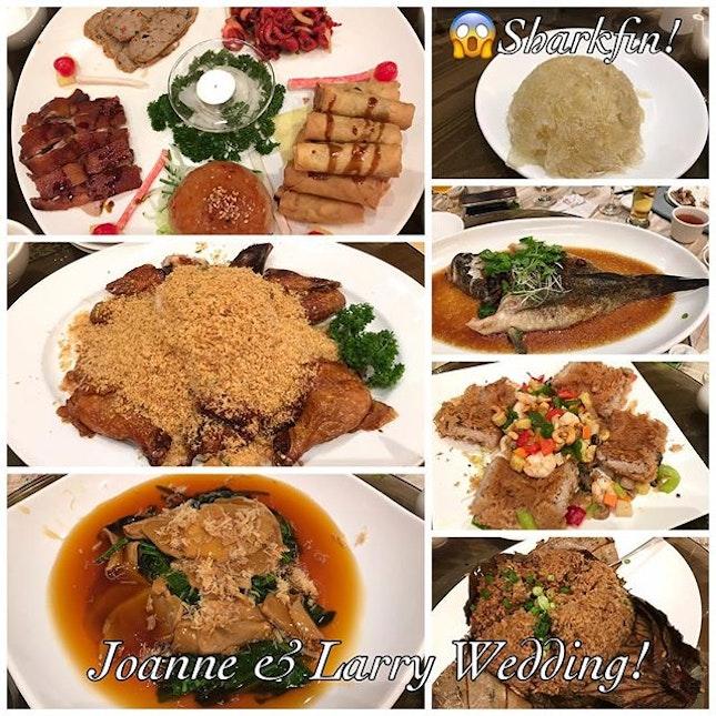 #throwback to Joanne & Larry's Wedding Dinner last night!