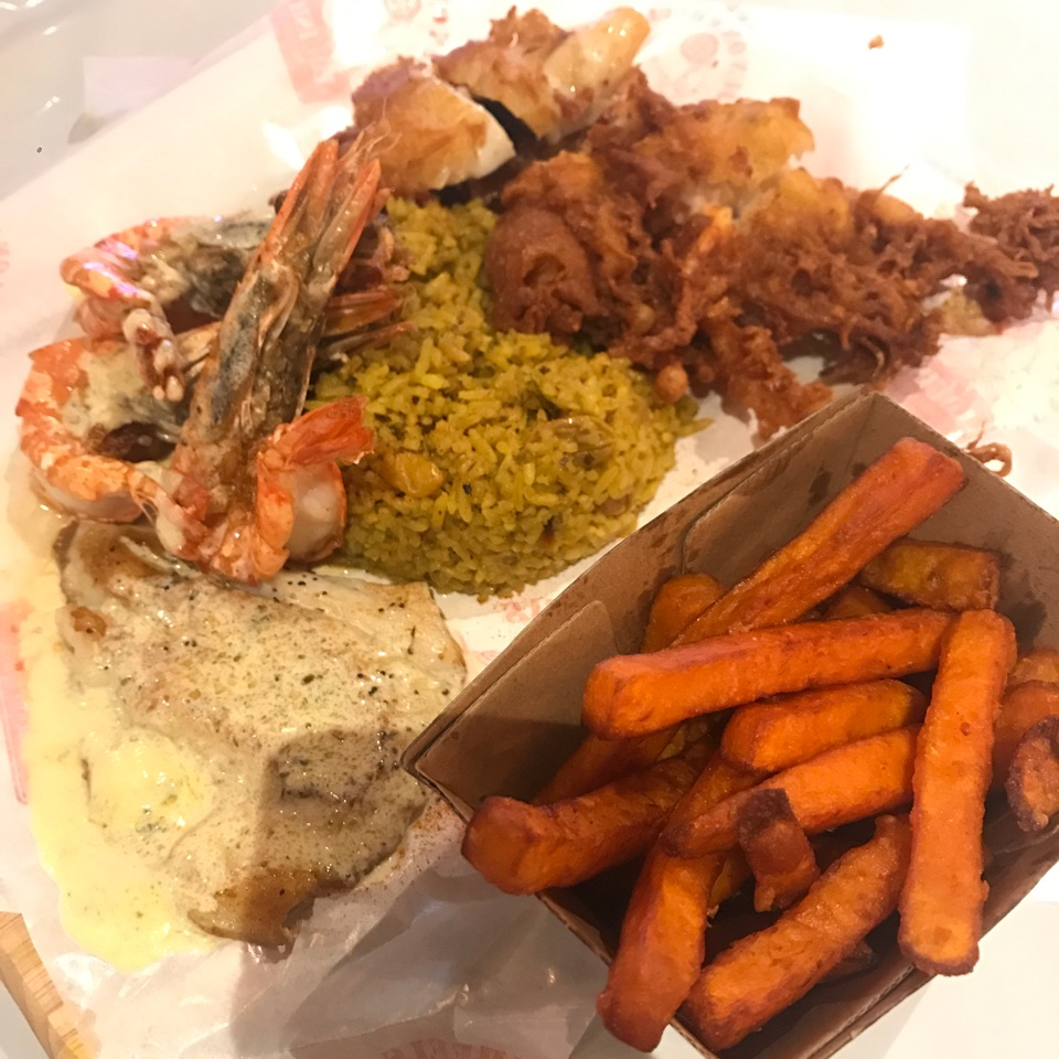 The Naughty Platter + Sweet Potato Fries