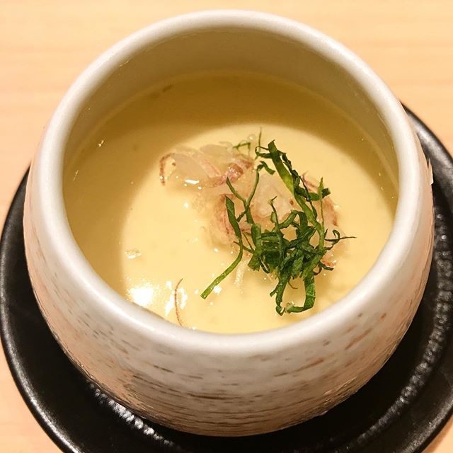 My first time being served cold chawanmushi.
