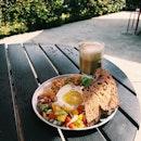 Mediterranean Plate + Hot Mocha