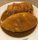 Curry Sauce Omurice With Chicken Cutlet ($12.80) With Lava Egg (+$2)