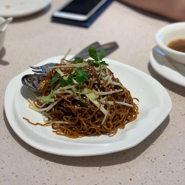 Wok-fried egg noodles in superior soya sauce ($10.80++)