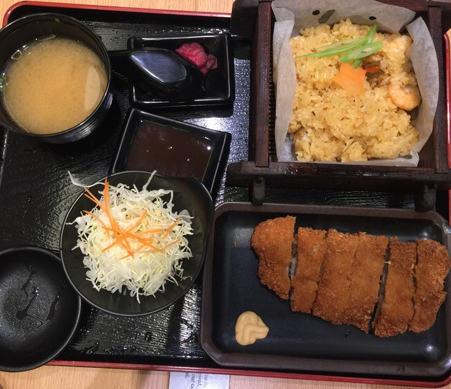 Chicken Cutlet Set With Seasonal Okowa