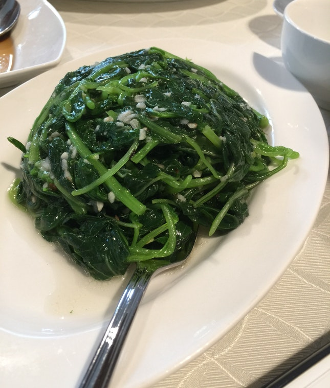 Garlic Fried Spinach ($15++)
