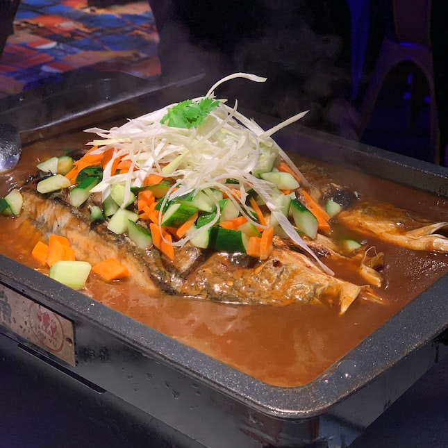 Grilled Sea Bass with Soy Sauce ($42.90++)