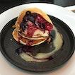 Buttermilk Pancakes W/ Yuzu Curd And Blueberries!