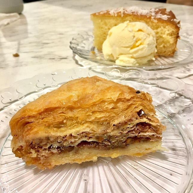 Baklava Drenched In Syrup 😍 Check Out Dem Countless Layers Of Filo Pastry!! ($9)