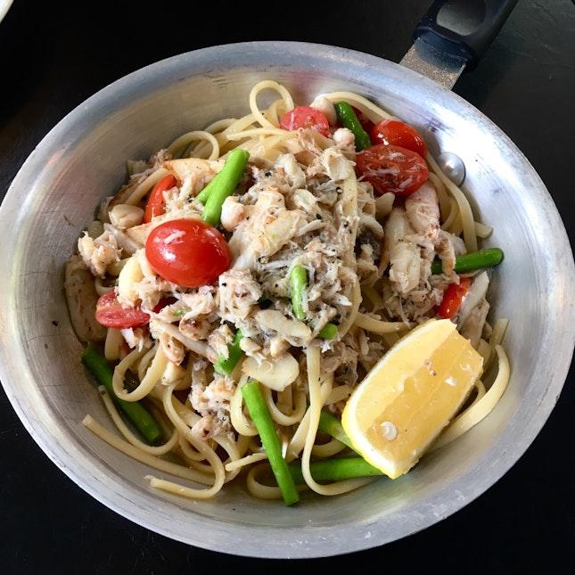Garlicky Goodness!! Crab Meat Pasta ($26)