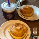 Coconut Latte & Croissant W/ Cheese And Egg ($10/2 Sets)