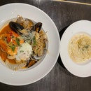 Crab and lobster Pasta + Red Devil Pasta