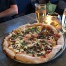 Brisket Cheese Burger Pizza ($26++)