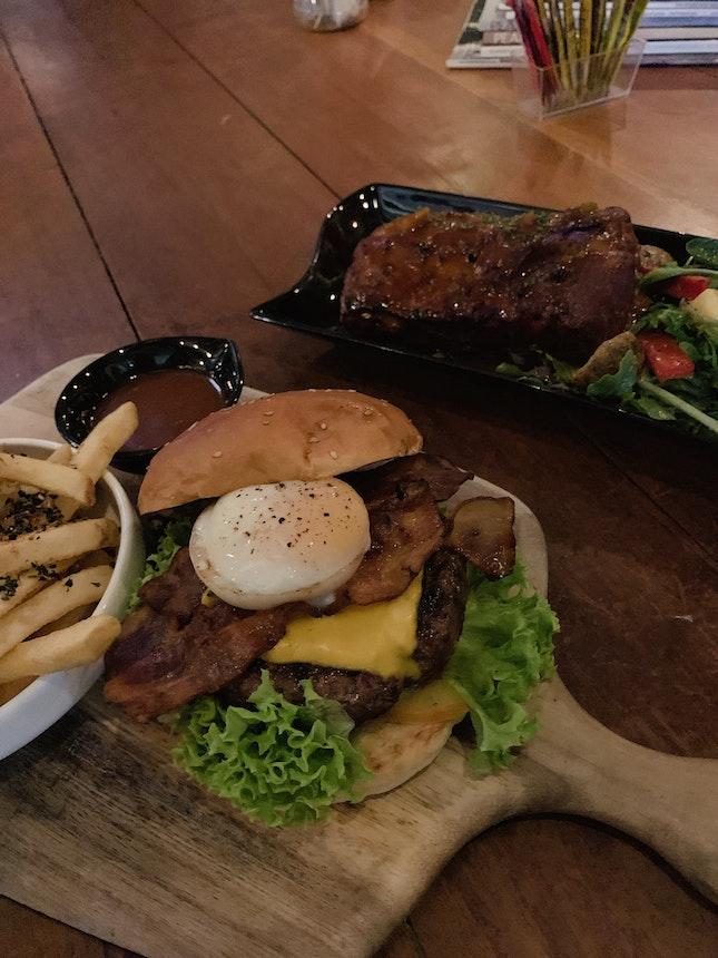 Ultimate beef yard burger x Pork ribs
