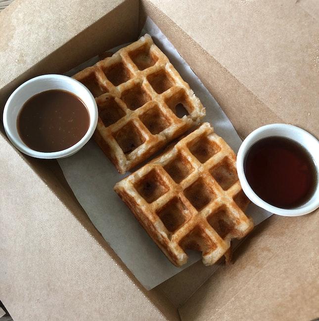 2 Sourdough Waffles + 2 Toppings ($11.80)