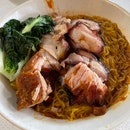 Sio Bak + Char Siew Noodle $6.50 + $2 (add meat)
