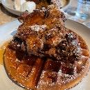 Fried Chicken Waffle $23.50++