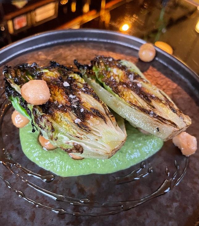 Grilled Sucrine Lettuce $15