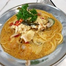 Salted egg t0m yum pasta 👌