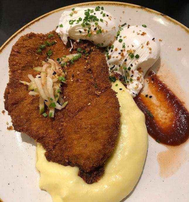 Tonkatsu With Truffle Mash