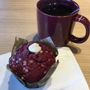 Red Velvet Muffin N Earl Grey Lavender Tea