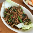 Stir-fried Minced Pork W/ Hot Basil Leaves - $8.00