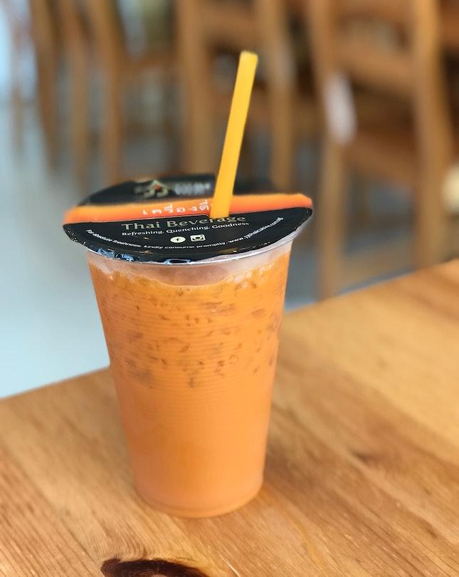 Thai Ice Lemongrass Milk Tea - $3.50